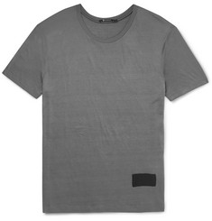 Alexander Wang - T by Alexander Wang Slim-Fit Silk and Cotton-Blend T-Shirt