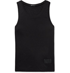 Alexander Wang - T by Alexander Wang Silk and Cotton-Blend Jersey Tank Top