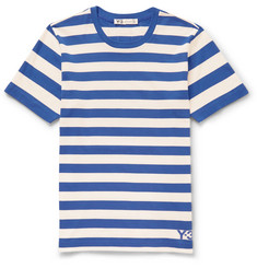 Y-3 - Striped Cotton-Jersey T-Shirt