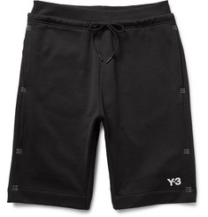 Y-3 - Tack Stitch-Detailed Loopback Cotton-Jersey Shorts