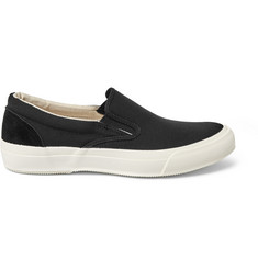 Beams Suede and Canvas Slip-On Sneakers