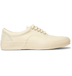 Beams Nubuck-Trimmed Canvas Sneakers