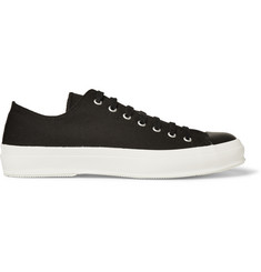Beams Canvas and Leather Sneakers