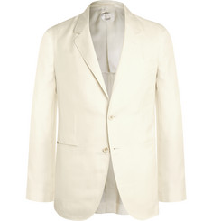Caruso - Ivory Slim-Fit Silk Blazer