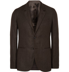 Caruso - Brown Butterfly Slim-Fit Linen and Wool-Blend Blazer