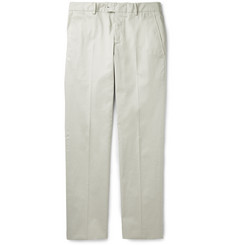 Caruso - Slim-Fit Fine-Wale Stretch-Cotton Corduroy Trousers