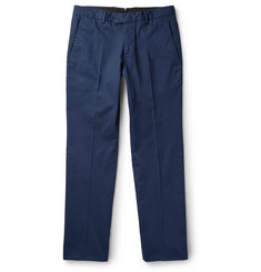 Caruso Slim-Fit Fine-Wale Stretch-Cotton Corduroy Trousers
