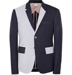 Thom Browne Slim-Fit Panelled Wool Blazer