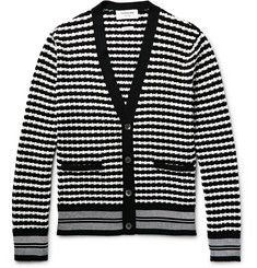 Thom Browne - Striped Textured-Cotton Cardigan