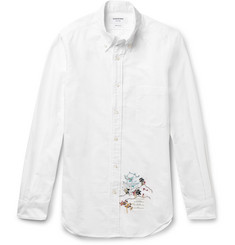 Thom Browne - Slim-Fit Embroidered Cotton Oxford Shirt