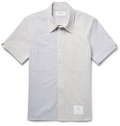 Thom Browne - Slim-Fit Striped Cotton-Seersucker Shirt