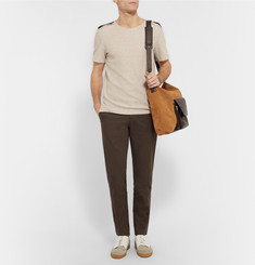 Loewe - Leather-Trimmed Suede Messenger Bag