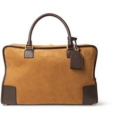 Loewe - Amazona 44 Leather-Trimmed Suede Holdall
