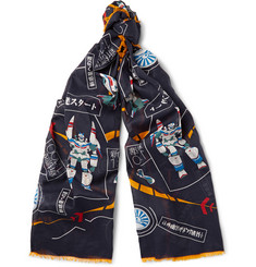 Loewe - Printed Cotton-Voile Scarf