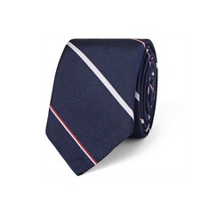 Thom Browne Slim Striped Silk and Cotton-Blend Twill Tie