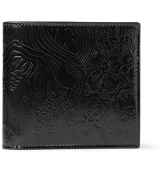 Thom Browne Embossed Polished-Leather Billfold Wallet
