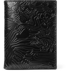 Thom Browne Bifold Embossed Polished-Leather Cardholder