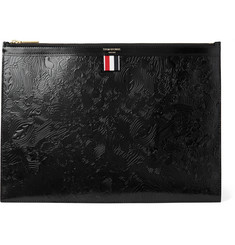 Thom Browne Embossed Polished-Leather Document Holder