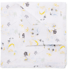Thom Browne - Printed Linen Pocket Square