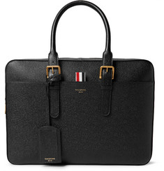 Thom Browne Pebble-Grain Leather Briefcase