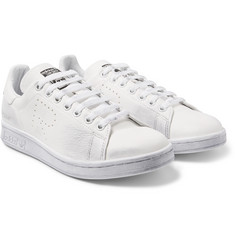 Raf Simons - + adidas Originals Stan Smith Distressed Leather Sneakers