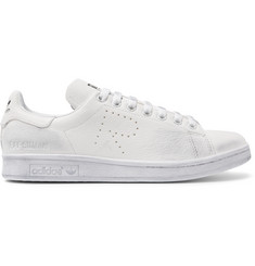 Raf Simons + adidas Originals Stan Smith Distressed Leather Sneakers