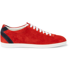 Gucci Suede Tennis Sneakers