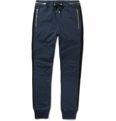 Balmain Biker-Style Cotton-Jersey Sweatpants