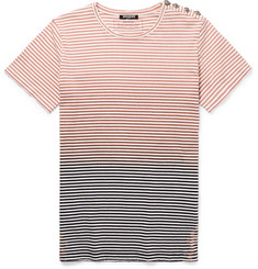 Balmain Slim-Fit Gradient-Striped Cotton-Jersey T-Shirt