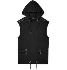 Balmain Slim-Fit Cotton-Jersey Hooded Gilet