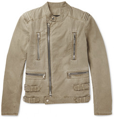 Balmain Cotton Biker Jacket