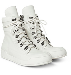 Balmain - Leather High-Top Sneakers