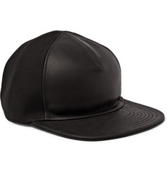 Balmain Leather and Cotton Baseball Cap