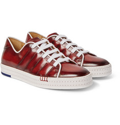Berluti - Playfield Burnished Venezia Leather Sneakers