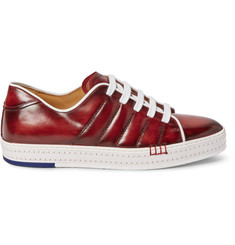 Berluti Playfield Polished-Leather Sneakers