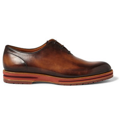 Berluti Alessio Burnished-Leather Oxford Shoes