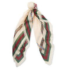 Gucci Printed Modal and Silk-Blend Scarf