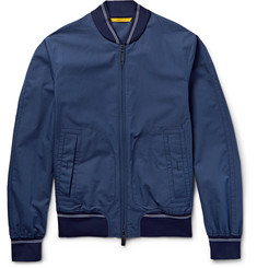 Canali Rain & Wind Tech Cotton and Silk-Blend Bomber Jacket