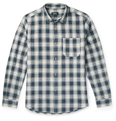 A.P.C. Plaid Cotton and Linen-Blend Shirt