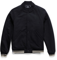 A.P.C. - Cotton and Wool-Blend Varsity Jacket