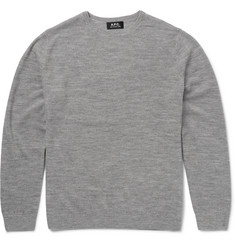A.P.C. - Slim-Fit Waffle-Knit Merino Wool Sweater