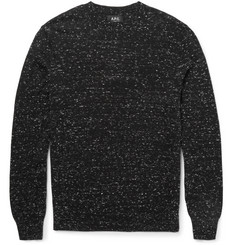 A.P.C. Slim-Fit Slub Cotton and Cashmere-Blend Sweater