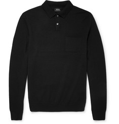 A.P.C. - Slim-Fit Merino Wool Polo Shirt