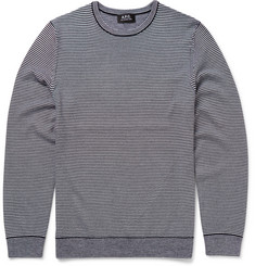 A.P.C. Slim-Fit Striped Merino Wool Sweater