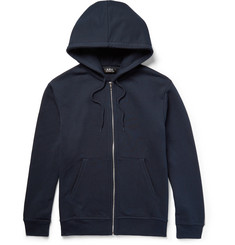A.P.C. - Loopback Cotton-Blend Jersey Zip-Up Hoodie