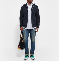 A.P.C. Zip-Up Loopback Cotton-Blend Jersey Hoodie