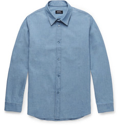 A.P.C. - Slim-Fit Cotton-Chambray Shirt