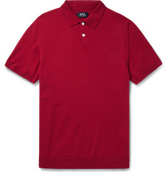 A.P.C. - Merino Wool Polo Shirt