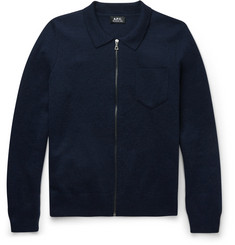 A.P.C. - Wool Zip-Up Sweater