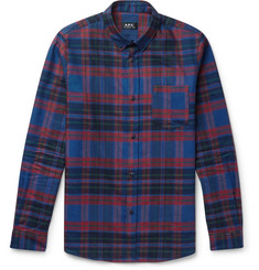 A.P.C. Slim-Fit Button-Down Collar Checked Cotton Shirt